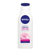 Nivea natural fairness body lotion all skin types liquorice & berry extracts 400 ml