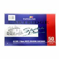 Paperline A3 White Drawing Book 50 Sheets