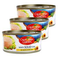 California Garden White Solid Tuna in Sunflower Oil Multipack 170gx3