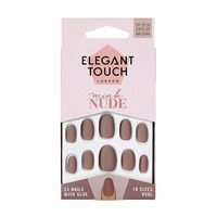 Elegant Touch 10 Size False Artificial Nails - Mink Nude, 24 Piece
