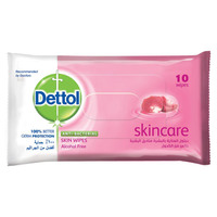 Dettol Skin Care Anti-Bacterial Skin Wipes 10 Counts