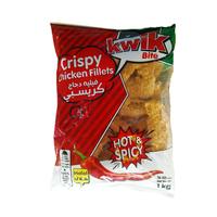 Kwik Crispy Chicken Fillets Hot & Spicy 1KG
