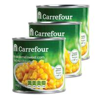 Carrefour Whole Kernel Sweet Corn 340g x Pack of 3