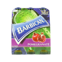 Barbican Pomegranate Non Alcoholic Malt Beverage 330ml x Pack of 6