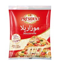 President Shredded Mozzarella Cheese 200g