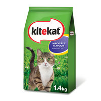 Kitekat Mackerel Flavoured Dry Cat Food 1.4kg
