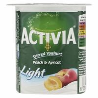 Activia Stirred Peach And Apricot Light Yoghurt 120g x Pack of 4