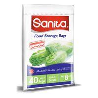 Sanita  Food Storage Bags Biodegradable #8 40 Bags