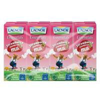 Lacnor Essentials Strawberry Flavoured Milk 180ml x Pack of 8
