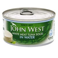 John West White Meat Tuna Solid In Water Oil 170g x Pack of 3