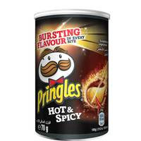 Pringles Hot And Spicy Snacks 70g