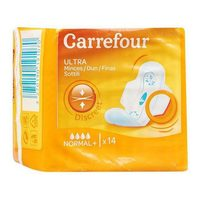 Carrefour ultra pads normal with wings 14 pads