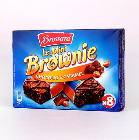 Buy Brossard Brownie With Caramel Chocolate 240 G X 8 Pieces Online Shop Food Cupboard On Carrefour Saudi Arabia