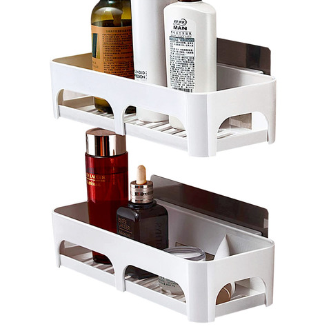 Buy Aiwanto Bathroom Shelf Wall Mounted Suction Cup Hole Free Toilet Sink Rack Online Shop Home Garden On Carrefour Uae
