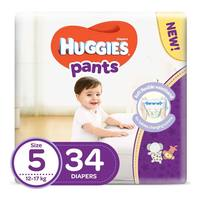 Huggies pants diapers size 5 jumbo pack 12-17 Kg 34 diapers