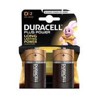 Duracell Plus Power Type D Alkaline Battery X2