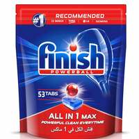 Finish Dishwasher Detergent All in One Tabs Regular 53 Tablet