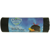 Earth Choice Garbage Bags Quick Tie Drawstring 20 Bags