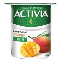 Activia Stirred Yoghurt Full Fat Mango 120g