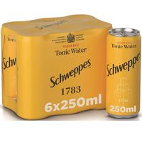 Schweppes Tonic Water Can 250mlx6