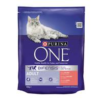 Purina One Salmon and Whole Grains Adult Cat Dry Food 800g