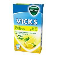 Vicks drops lemon with mint sugar free 40 g