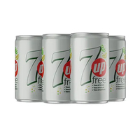 7-UP Free Soft Drink Can 185ML X6