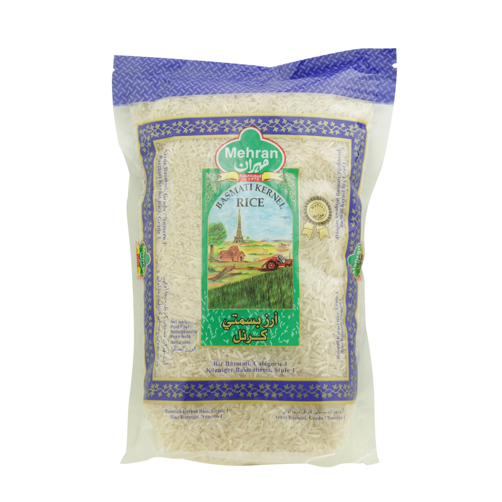 Buy Mehran Basmati Kernel Rice 1 Kg Online Shop Food Cupboard On Carrefour Saudi Arabia