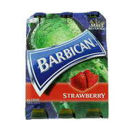 Barbican Strawberry Non Alcoholic Malt Beverage Soft Drink 330ml x Pack of 6