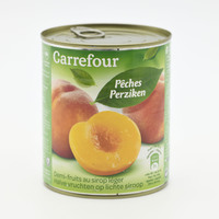 Carrefour peaches in light syrup 825 g