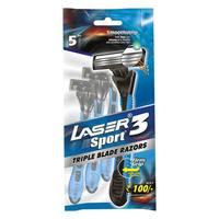 Laser 3 Sport Razors Pack of 5
