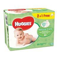 Huggies wipes aloe 56 pieces x 2 + 1 free