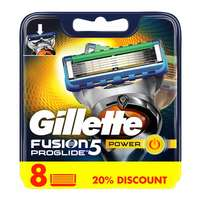 Gillette Fusion Proglide Power Men's Razor Blade Refills  Pack of 8