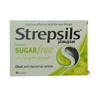 Strepsils Lemon Sugar Free Dual Anti-bacterial action 16 Lozenges