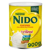 Nestle Nido Fortified Full Cream Milk Powder In Tin Can 900g