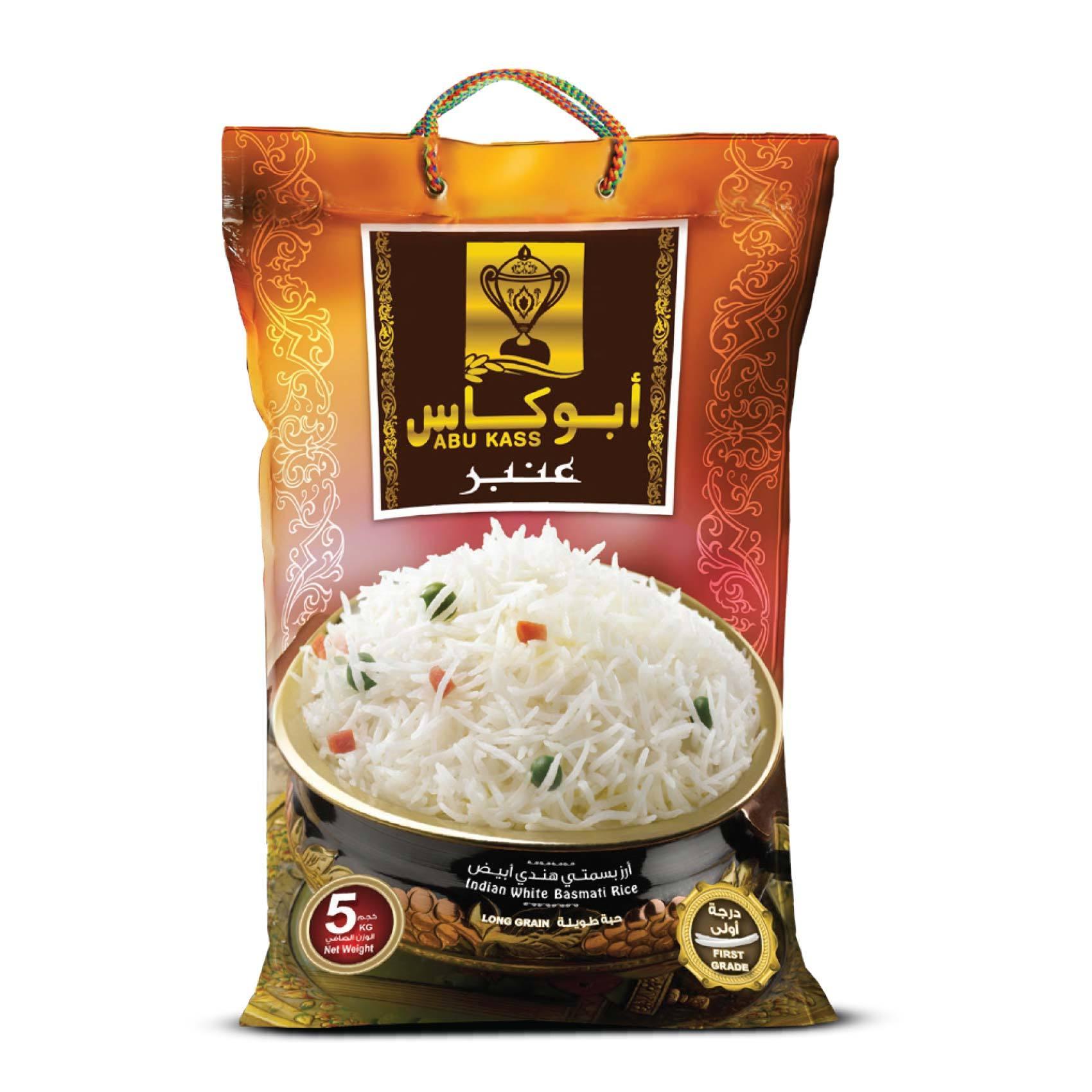 Buy Abukass Classic White Basmati Rice 5 Kg Online Shop Food Cupboard On Carrefour Saudi Arabia