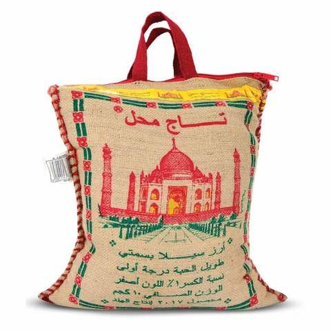 Buy Taj Mahal Sella Basmati Rice 10 Kg Online Shop Food Cupboard On Carrefour Saudi Arabia