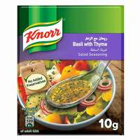 Knorr Salad Mixes Basil And Thyme 10g x Pack of 4