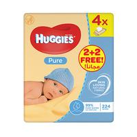 Huggies Wipes Pure Quad 2+2 Free