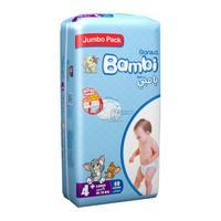 Bambi 4+ jumbo pack 4 large+ 10-18 kg x 58 diapers