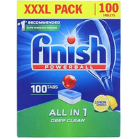 Finish Powerball Dishwasher Tablets All In 1 Deep Clean XXXL Pack Lemon Sparkle (1550g,100 Tablets).