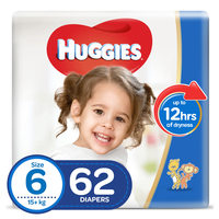 Huggies Ultra Comfort Baby Diapers Size 6 15+kg 62 Counts