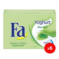 Fa yoghurt aloe vera with yoghurt-protein cream soap 175 g x 6