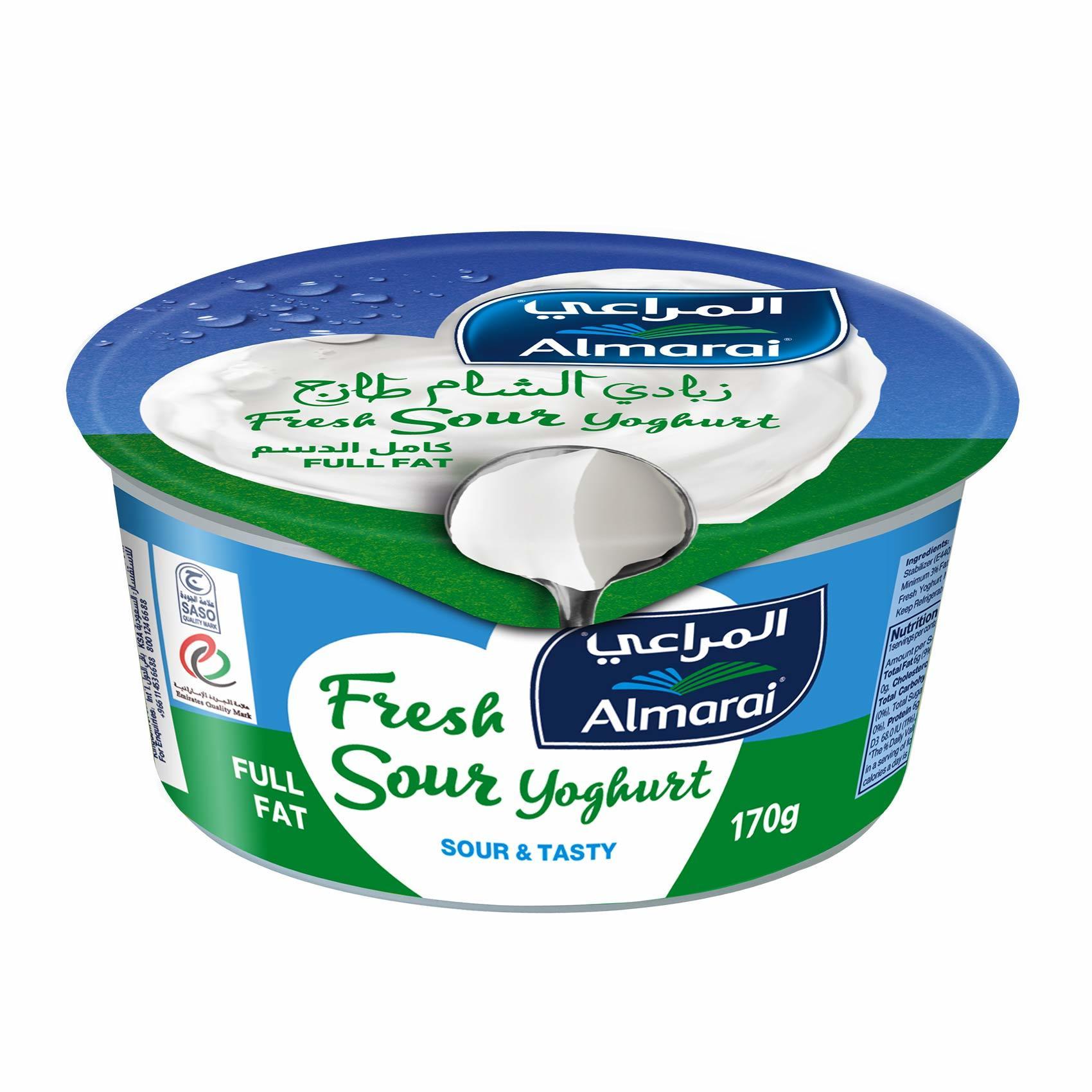 Buy Almarai Full Fat Fresh Sour Yoghurt 170 G Online Shop Fresh Food On Carrefour Saudi Arabia