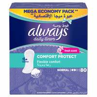Always Comfort Protect With Fresh Scent Pantyliners 80 Count