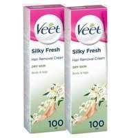 Veet Cream Silky Fresh Dry Skin 100mlx2