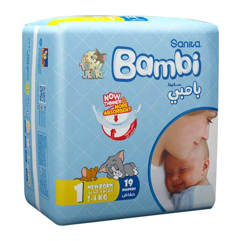 Buy Bambi Regular Size 1 Newborn 2 4 Kg Times 19 Online Shop Baby Products On Carrefour Saudi Arabia