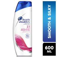 Head & shoulders 2in1 lively & silky anti-dandruff shampoo 600 ml